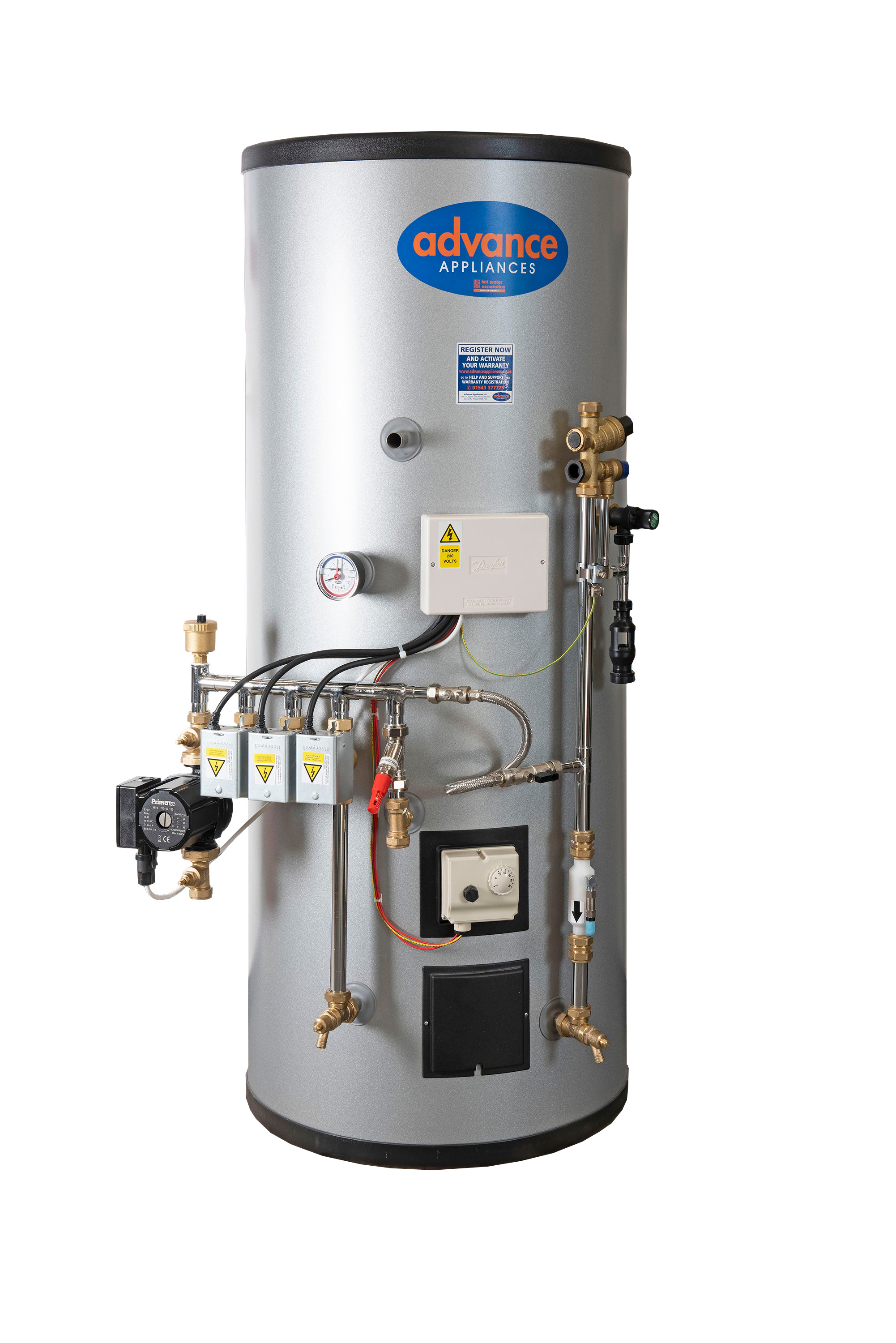 New Pre-Plumbed unvented cylinders